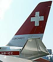 Swiss flag on Swissair aircraft tail [Swiss Museum of Transport]